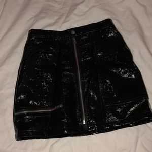 Urban Outfitters Silence Noise Faux Patent Skirt